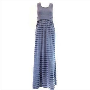 Victoria's Secret Dresses - Victoria Secret Blue Cut Out Maxi Dress